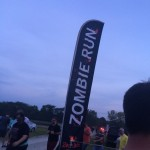 One of the few Zombie Run banners up at the event.