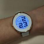 Pebble Time Round on women's wrist