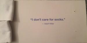 Back of socks